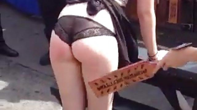 Amateur Humiliation & Punishment on University Streetfair #2