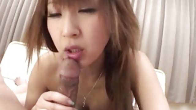 Anna Mizukawa blows big cock in perfect POV