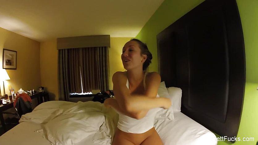 Behind the scenes with pornstar Brett Rossi