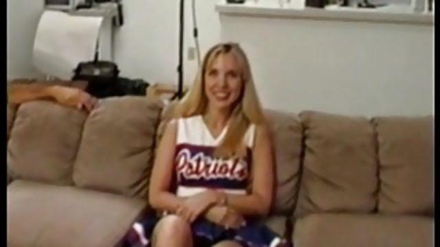 Blonde Patriots Cheerleader Aubrey Does Anal