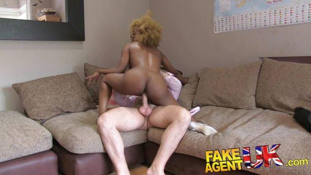 FakeAgentUK Perfect ass and tits ebony chick