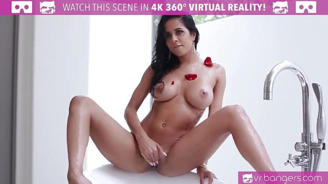 Hot Brazilian Chick Rubbing her WET PUSSY in The Tub