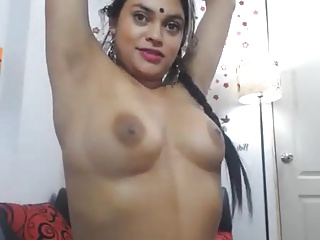 Indian Wife Teases on Cam when husband is out