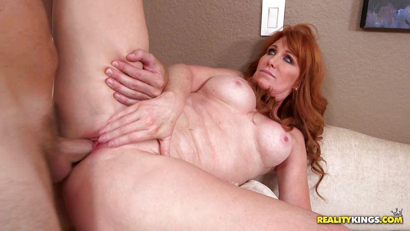 Red head Freya Fantasia pussy banged balls deep