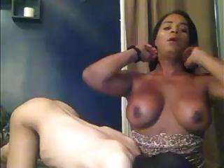sexy black tranny pounding pt1