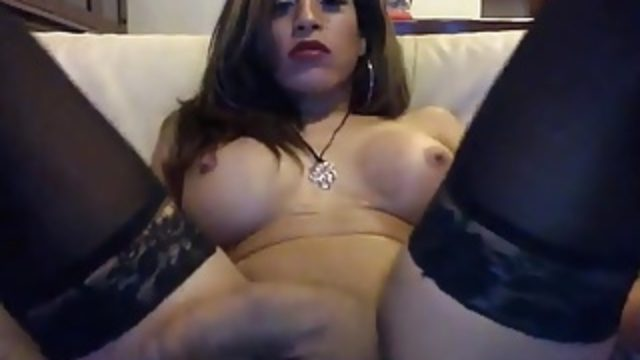 Shemale Stroking