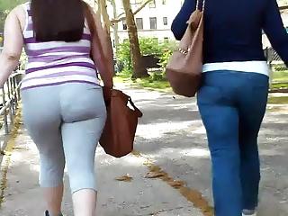 Thick Ass White College Girl VPL