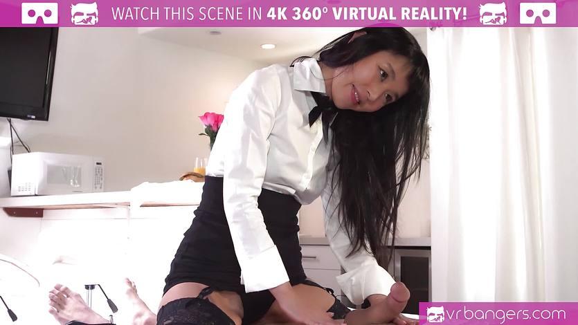 VR Bangers -Room service Japanese girl gets FUCKED HARD